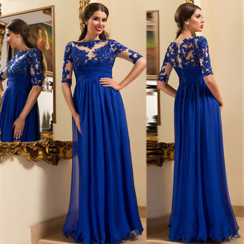 Long Gowns For Wedding Guests: Royal Blue Evening Dresses,Mother Of The Bride Dresses,A